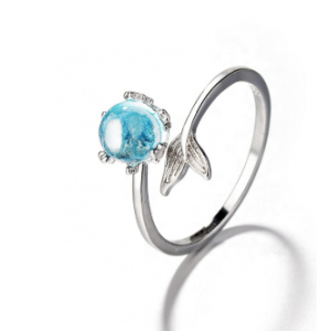 Tears sterling silver ring niche joint