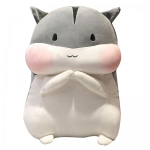 cute hamster plush toys pillow hug doll