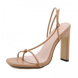 Open ankle strap sandals sexy high quality shoes