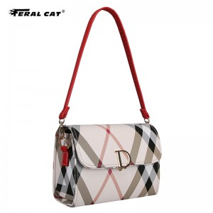 Women's solid color  flap brand new fashion bag