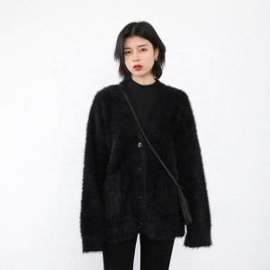 2020 early spring new thick sweater coat