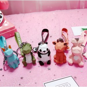 Dinosaur Panda Doll Key Chain Key Ring Cat